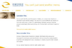 Emerge Communication website